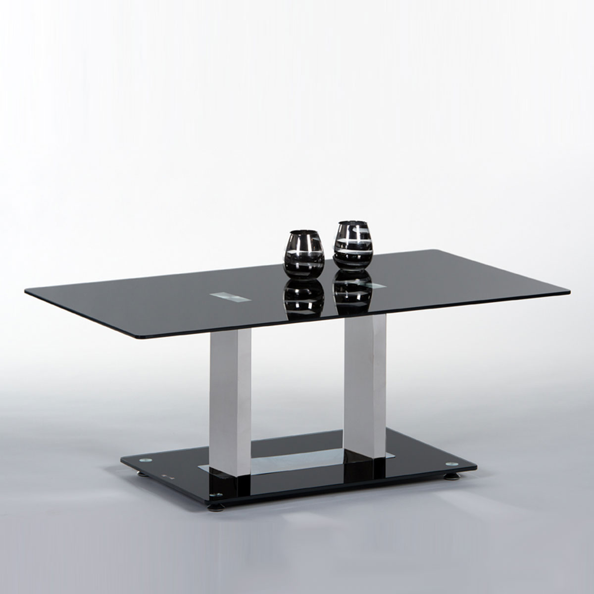 Verschiedene Couchtisch Chrom Glas Galerie Von Black Glasplatte Schwarz Lackiert 110 X 60