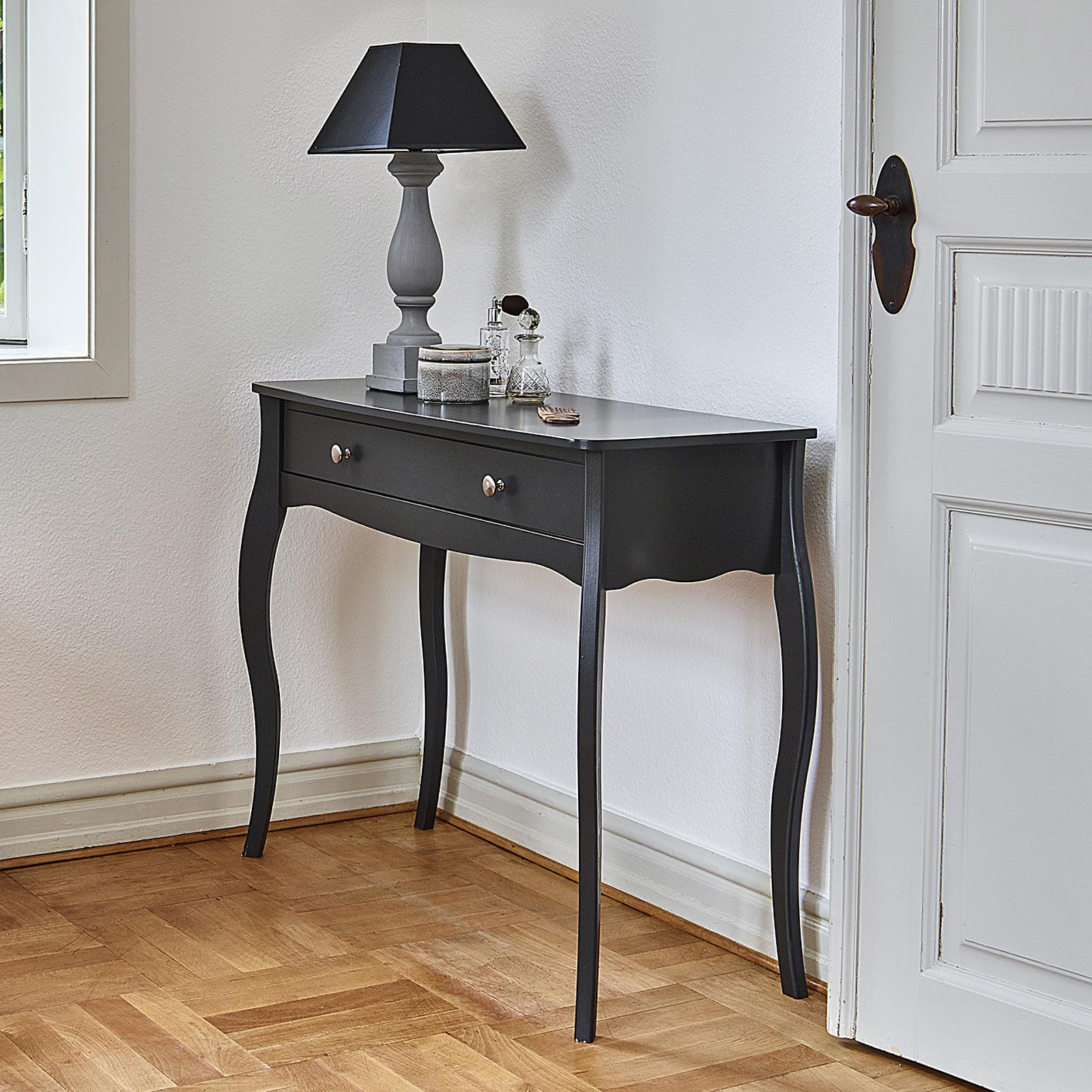 Nachttisch kommode frisiertisch baroque mdf schwarz braun oder rein wei auswahl ebay - Frisiertisch schwarz ...