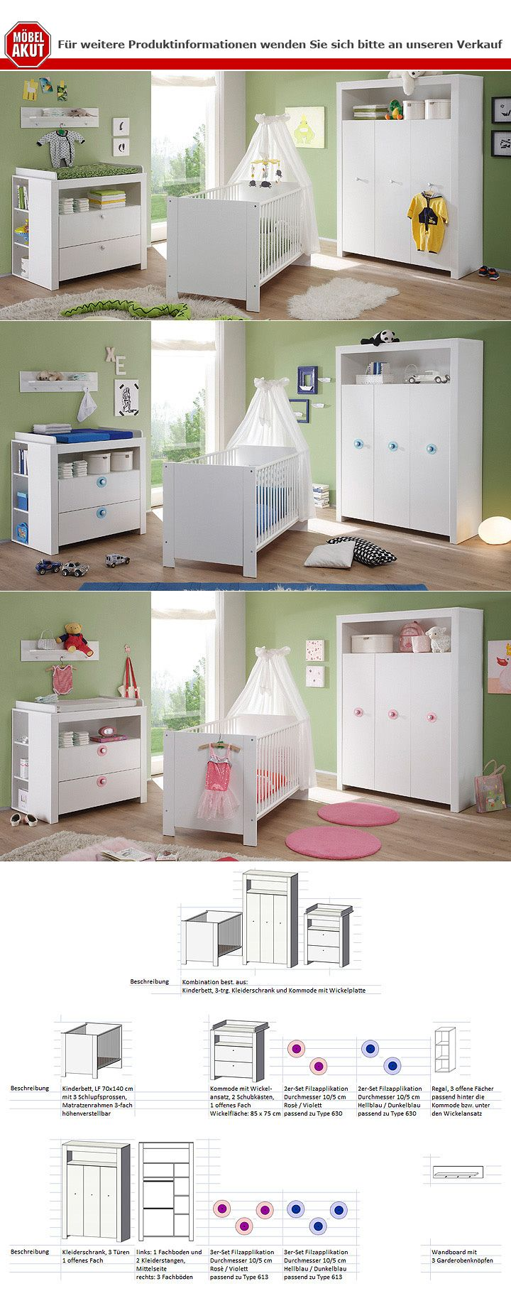 kleiderschrank olivia dreht renschrank schrank in wei 3 t rig 130 cm ebay. Black Bedroom Furniture Sets. Home Design Ideas