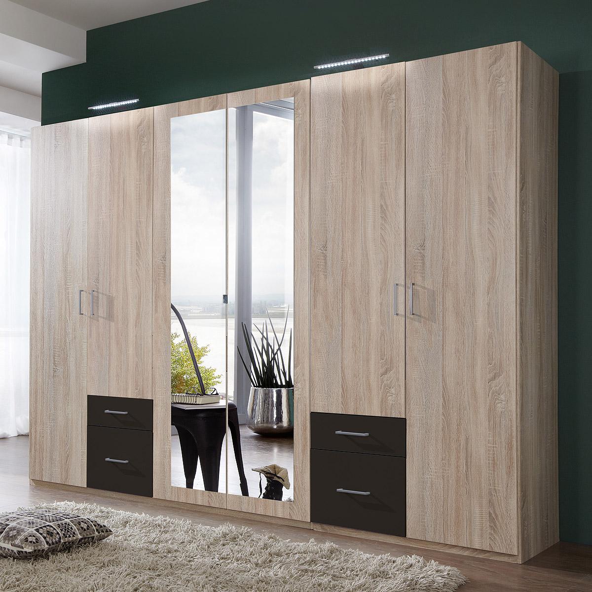 kleiderschrank fly schrank dreht renschrank mit spiegel ebay. Black Bedroom Furniture Sets. Home Design Ideas