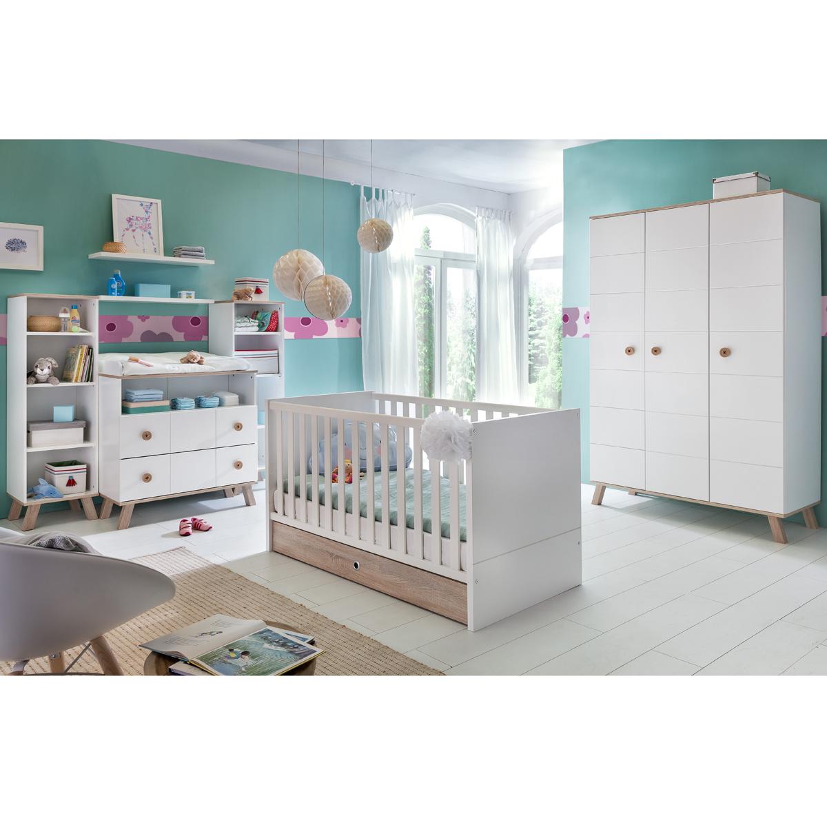 Babyzimmer set billu kinderzimmer baby erstausstattung wei eiche komplettset ebay - Baby kinderzimmer set ...