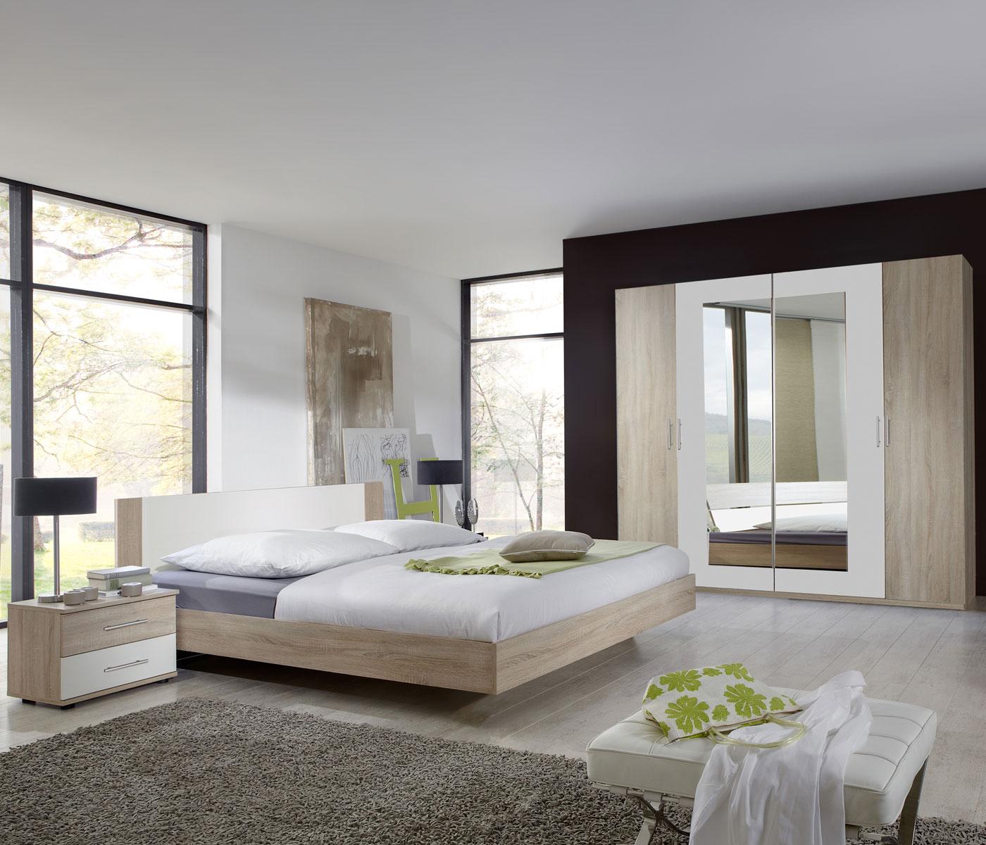 schlafzimmer komplettset kleiderschrank bett 180x200. Black Bedroom Furniture Sets. Home Design Ideas
