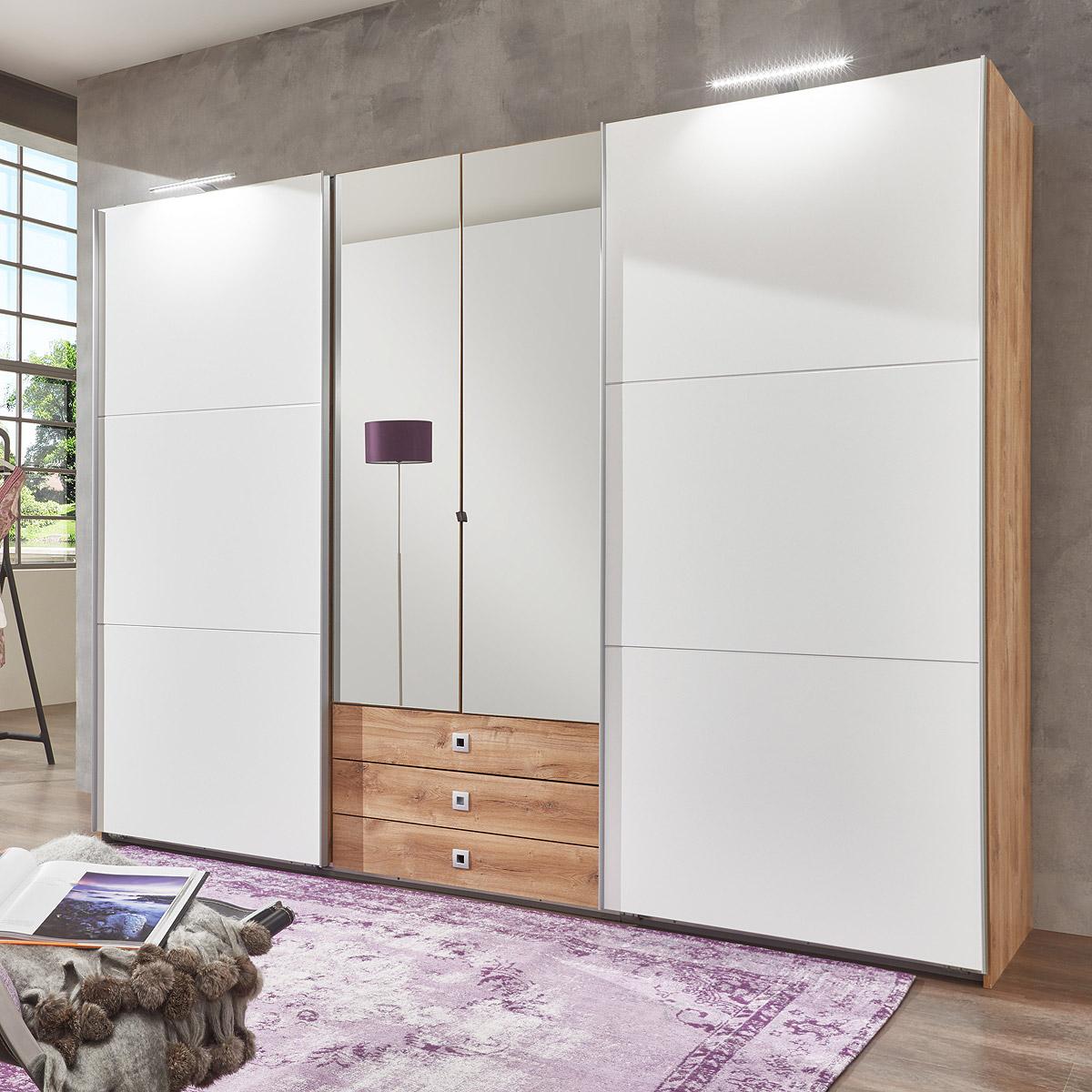 schwebet renschrank tennessee kleiderschrank in wei. Black Bedroom Furniture Sets. Home Design Ideas