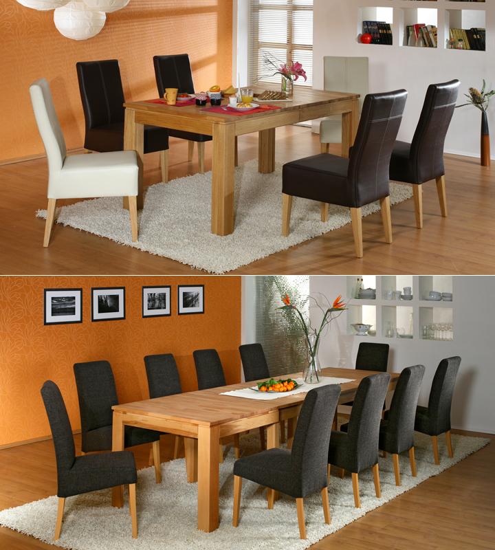 esstisch multi xl syncronauszug kernbuche massiv ge lt. Black Bedroom Furniture Sets. Home Design Ideas