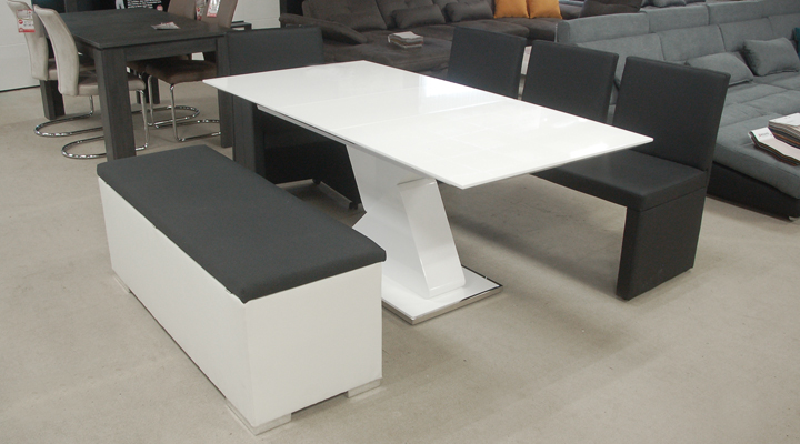 Sitzbank Truhe Chest Schlafzimmer in weiß Deckel gepolstert ...