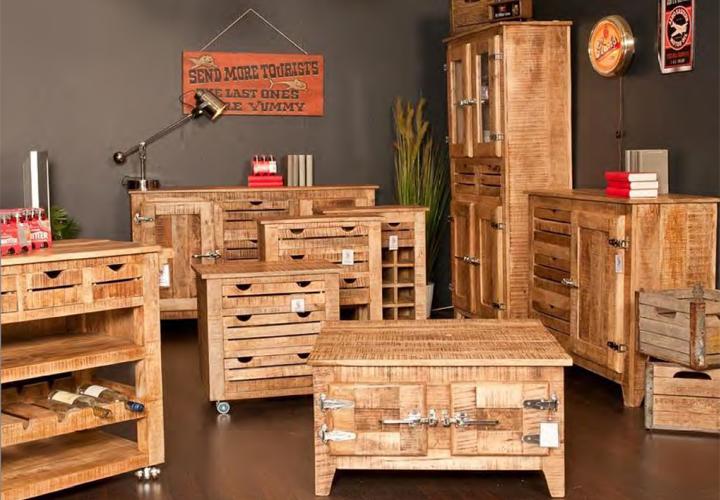 lowboard frigo massivholz mango country style. Black Bedroom Furniture Sets. Home Design Ideas