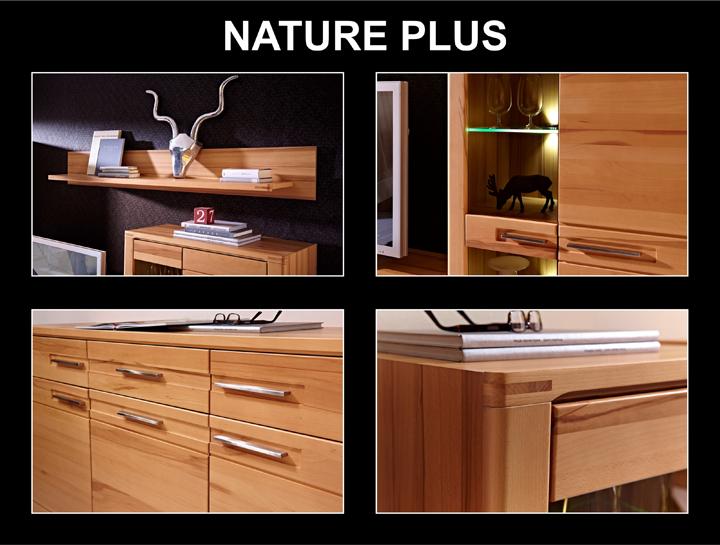 highboard nature plus schrank kernbuche massiv lackiert. Black Bedroom Furniture Sets. Home Design Ideas
