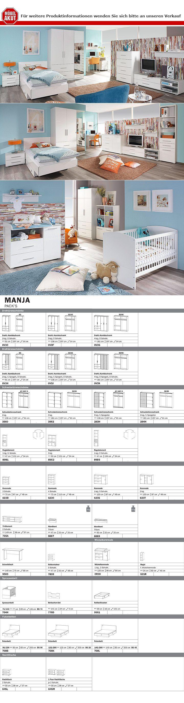 wohnkombi manja f r jugendzimmer wei hochglanz. Black Bedroom Furniture Sets. Home Design Ideas