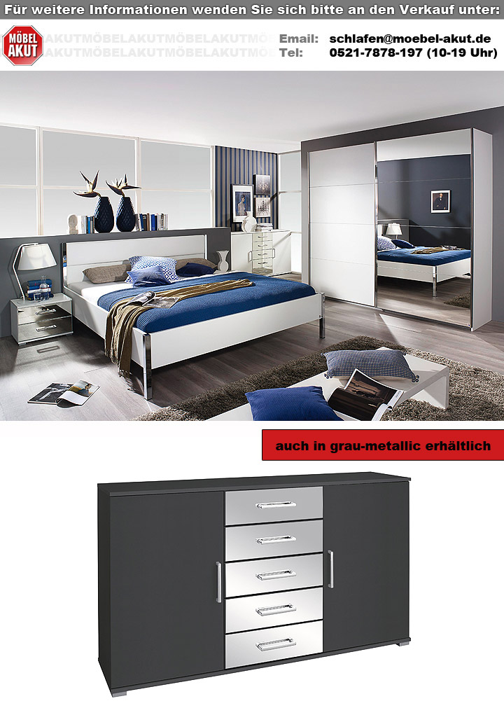 schlafzimmer set moita in wei und spiegel 4 teilig. Black Bedroom Furniture Sets. Home Design Ideas