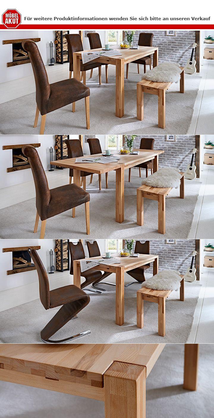esstisch paul esszimmertisch tisch in kernbuche massiv lackiert 160x90 cm ebay. Black Bedroom Furniture Sets. Home Design Ideas