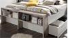 Bettanlage JULES in Sandeiche und weiß Bett 180x200
