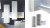 Anbauwand Wohnwand Bota Wohnzimmer weiß und Beton mit LED