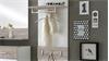 Garderobenpaneel SHANGHAI UP weiß Hochglanz und Sandeiche