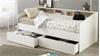 Stauraumbett  SLEEP 1 Einzelbett in weiß mit Bettschubkästen