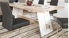 Esstisch ALADIN in Eiche Bianco und weiß Tisch 180x95 cm