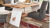 Esstisch ALADIN in Eiche Natur und weiß Tisch 200x95 cm
