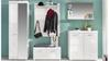 Garderobe Set 2 AMANDA in weiß Hochglanz tiefzieh