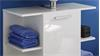 Badezimmer Set KENY in weiß Hochglanz 2-teilig