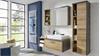 Badezimmer Set 1 BAHIA Eiche Riviera Honig und Beton dunkel