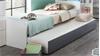 Bett JOKER Kastenbett in Alpinweiß 90x200 mit Ausziehliege