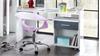 Schreibtisch JOKER Alpinweiß anthrazit mit Rollcontainer