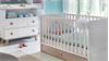 Babyzimmer Set 2 BILLU Alpinweiß und Eiche Sägerau 4-tlg