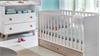 Babyzimmer Set 3 BILLU Alpinweiß und Eiche Sägerau 4-tlg