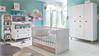 Babyzimmer Komplettset 2 BILLU Alpinweiß und Eiche Sägerau