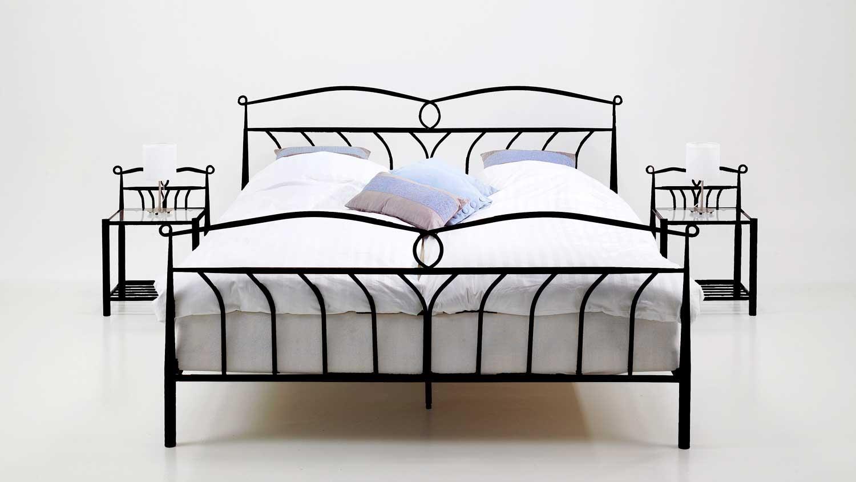 bett left schwarz 140x200 cm. Black Bedroom Furniture Sets. Home Design Ideas