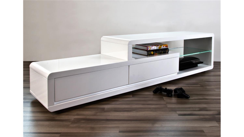 tv board talon wei hochglanz lackiert inkl beleuchtung. Black Bedroom Furniture Sets. Home Design Ideas