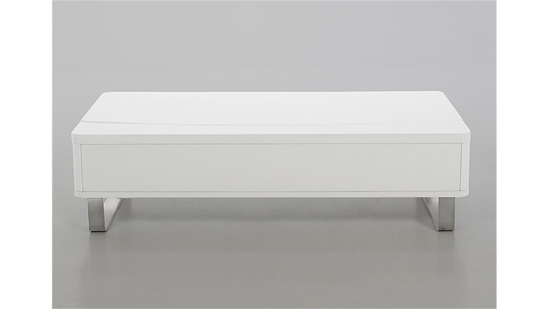 couchtisch perry beistelltisch tisch wei hochglanz und alu. Black Bedroom Furniture Sets. Home Design Ideas