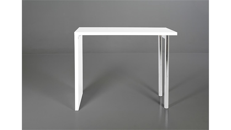 bartisch budgie wei hochglanz und chrom. Black Bedroom Furniture Sets. Home Design Ideas