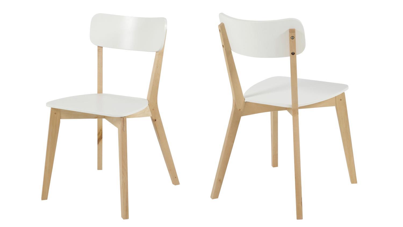 stuhl raven 2er set wei lackiert gestell birke teilmassiv. Black Bedroom Furniture Sets. Home Design Ideas