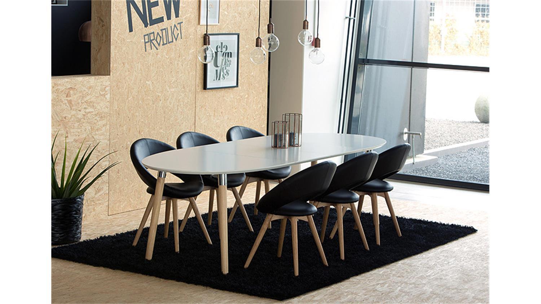 esstisch ausziehbar massiv weis die neueste innovation. Black Bedroom Furniture Sets. Home Design Ideas