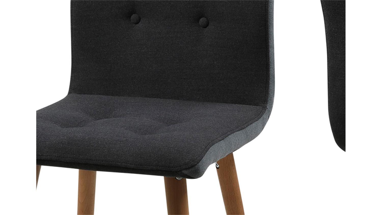 stuhl frida 2er set bezug stoff dunkelgrau beine eiche. Black Bedroom Furniture Sets. Home Design Ideas
