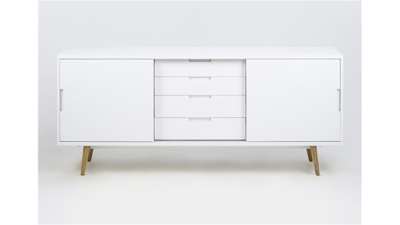 Anrichte elise kommode sideboard wei hochglanz lackiert for Kommode anrichte