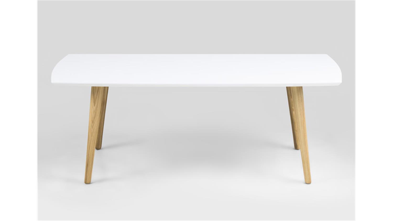 couchtisch elise tisch wei hochglanz lack und esche. Black Bedroom Furniture Sets. Home Design Ideas