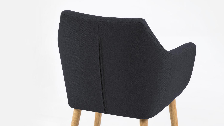 Stuhl nora armlehnstuhl sessel in vintage stoff anthrazit for Armlehnstuhl grau stoff