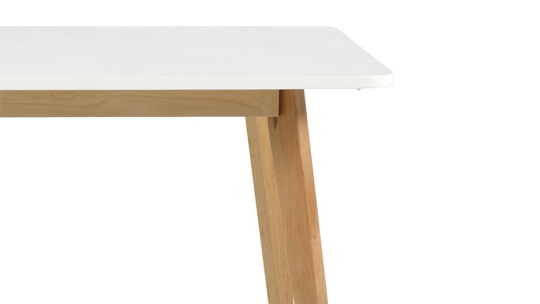 Esszimmer set raven tisch und 4 st hle wei lackiert birke for Tisch und stuhle esszimmer