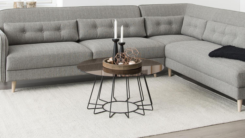 couchtisch casia glas goldfarbig und metall chrom. Black Bedroom Furniture Sets. Home Design Ideas