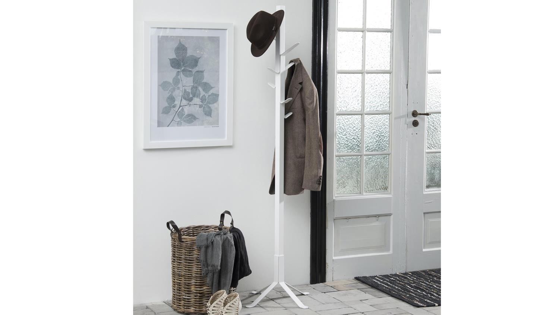 kleiderst nder vinson garderobenst nder metall lack wei. Black Bedroom Furniture Sets. Home Design Ideas