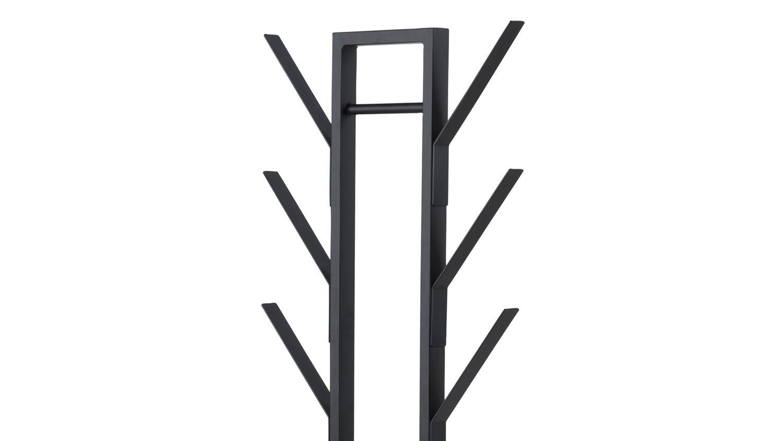 kleiderst nder vinson in metall lack schwarz mit schirmst nder. Black Bedroom Furniture Sets. Home Design Ideas