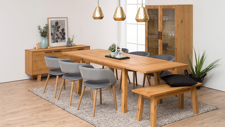 esstisch chara k chentisch tisch in wildeiche furnier. Black Bedroom Furniture Sets. Home Design Ideas
