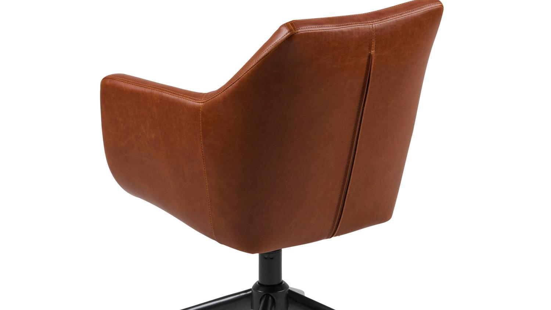 b rostuhl nora drehstuhl home office vintage cognac braun. Black Bedroom Furniture Sets. Home Design Ideas