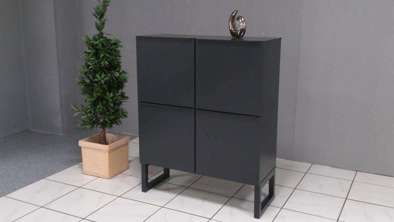 highboard obvious schrank 4 t rig graphit metallgestell. Black Bedroom Furniture Sets. Home Design Ideas