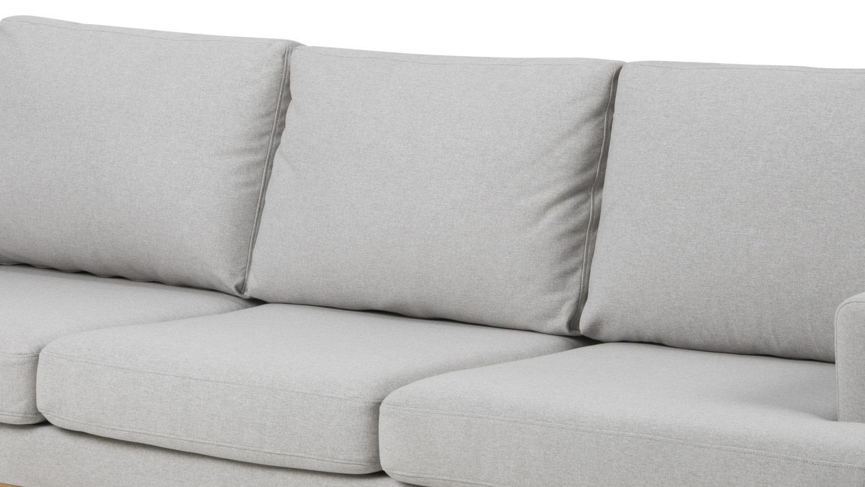 Sofa Norwich 3 Sitzer Hellgrau Skandinavischer Stil Couch