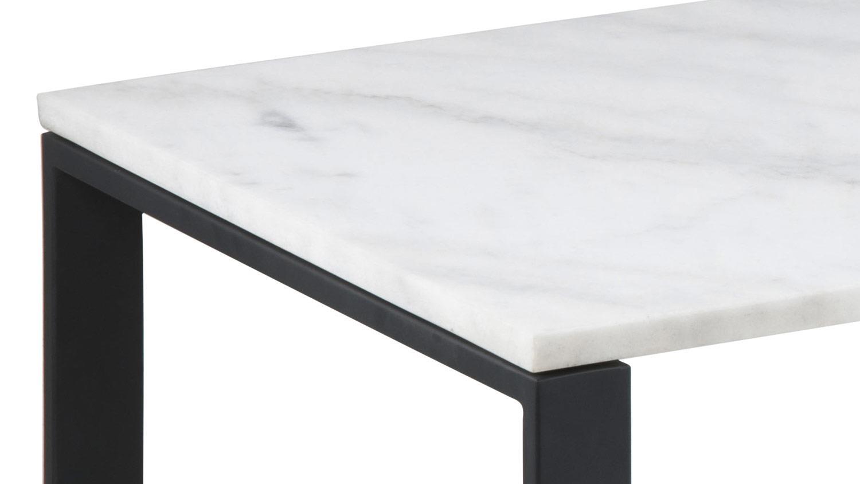 Couchtisch set katrine 2 tlg marmor wei metall schwarz for Couchtisch metall schwarz