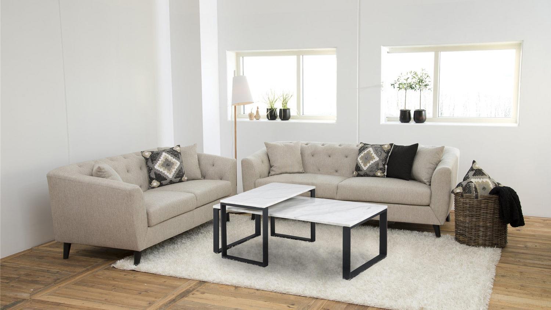 couchtisch set katrine 2 tlg marmor wei metall schwarz. Black Bedroom Furniture Sets. Home Design Ideas