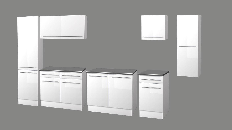 Küchen Unterschrank JAZZ 2 100 cm Front weiß Hochglanz