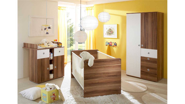 wickelkommode wiki walnuss und wei mit 2 schubk sten. Black Bedroom Furniture Sets. Home Design Ideas